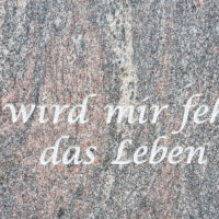 Grabstein Schrift Inschrift Gravur Granit Paradiso