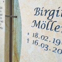 Grabinschrift Schrift für Grabsteine Beschriftung Beispiel Idee Grabsteinschrift