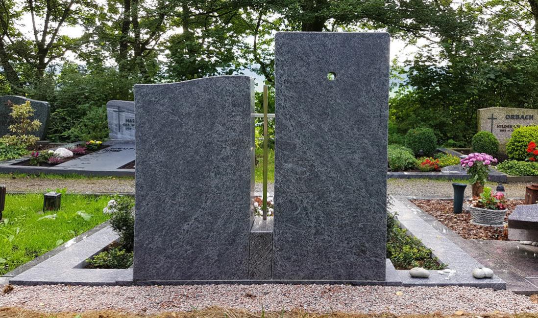 Doppelgrabstein Familiengrabstein Gabsteine Doppelgrab Granit Orion Naturstein Steinmetz  Friedhof Frielingsdorf