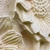 Sandstein Relief Sonnenblume Bildhauer Steinmetz Erfurt Hochheim