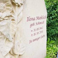 Grabstein Beschriftung Gravur Sandstein Inschriften Grabsteine Grabstein Sonnenblume Grabspruch