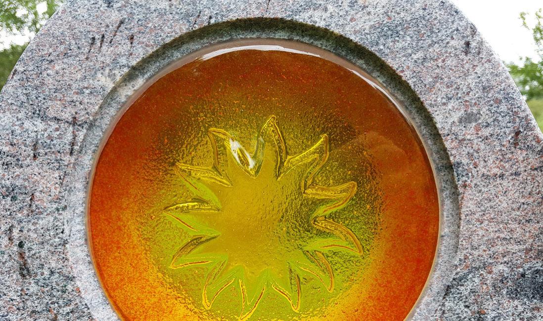 Glas Einsatz Grabstein Sonne Element Steinmetz Kaufen