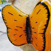 Glas Schmetterling Grabschmuck Grabstein Deko