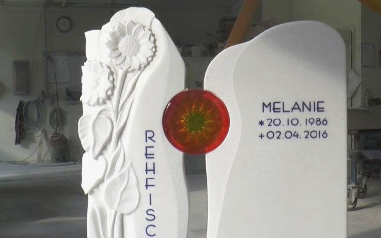 Video zu Individueller Grabstein – Florenzia – gefertigt auf Kundenwunsch