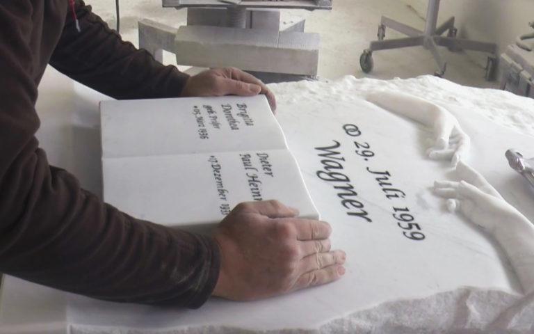 """Video zu Grabstein """"Michelangelo"""" – Edles Doppelgrabmal portugiesischer Marmor – Individuell gefertigt"""