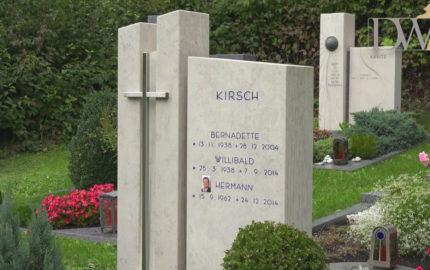 Außergewöhnliche Grabsteine für ein Familiengrab – Grabstein mit Kreuz