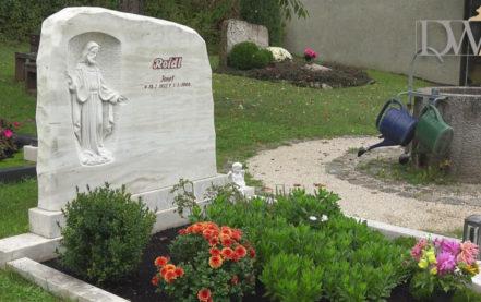 "Einzelgrab Grabmale aus Marmor mit Jesus Christus – Grabmal ""Propheta"""