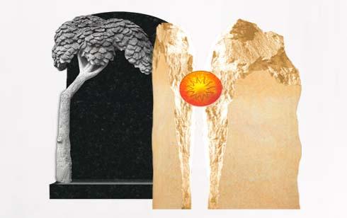 Doppelgrabsteine - Grabsteine für große Doppelgräber & Familiengräber