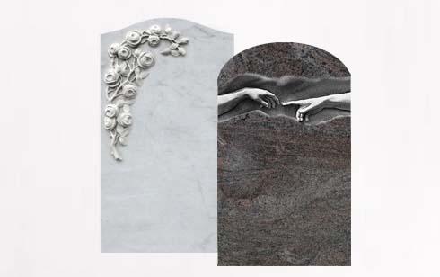 Einzelgrabsteine - Grabsteine für Einzelgräber, Reihengräber & Wahlgräber