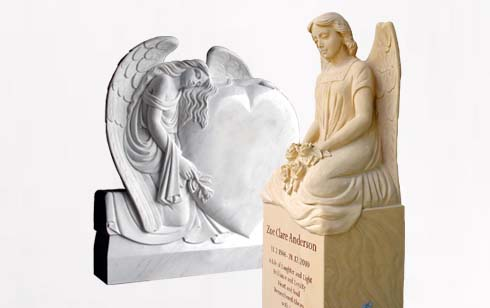 Engel Grabsteine - besondere Grabanlagen mit Engel Motiv