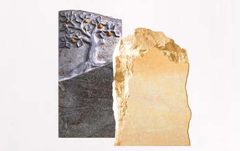 Urnengrabsteine - Stehende Urnengrabsteine & Urnengrabanlagen aus Naturstein