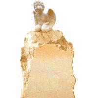 Findlings Grabstein mit Engel