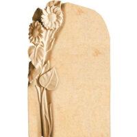 Grabsteine mit Blumenornament