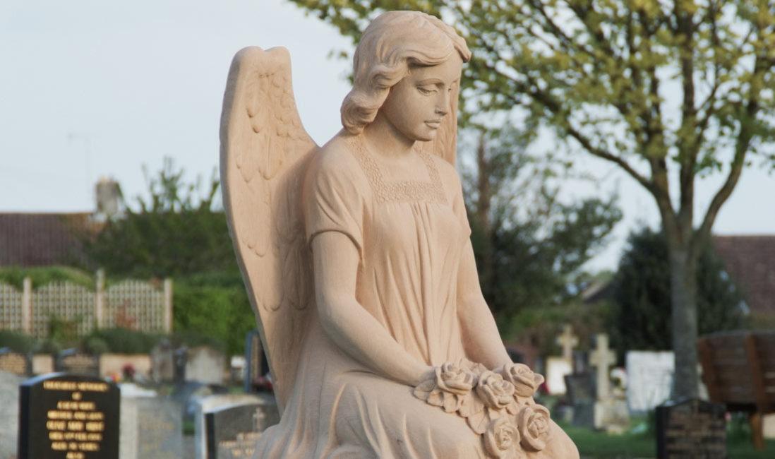 Grabmal Einzelgrabstein Sandstein Somerton Friedhof Profil