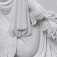 Grabstein Marmor Hand