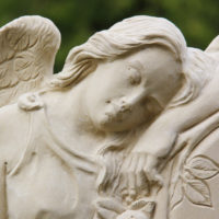 Engel Grabstein Friedhofsengel Grabengel Trauernder Engel