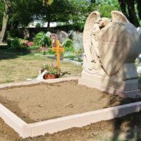 Darmstadt Wixhausen Friedhof Steinmetz Engel Grabsteine Doppelgrabstätte