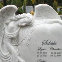 Marmor Engel Grabstein Herz Grabinschrift Grabstein Beschriftung Friedhof Luisenkirchhof III