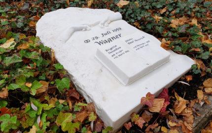 Grabplatte aus Marmor für ein Doppelgrab - Steinmetz Grabstein  mit Michelangelo Motiv / Berührungen  / Gera - Ostfriedhof
