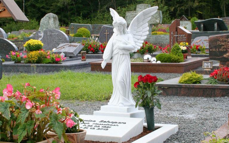 Grabengel Friedhofsengel Marmor Grabsteine Engel