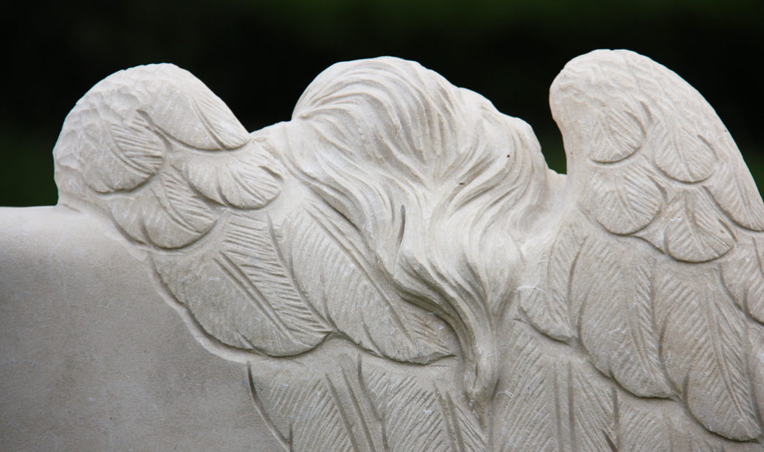 Grabstein Sandstein Friedhof Gingst Rügen Mecklenburg Vorpommern