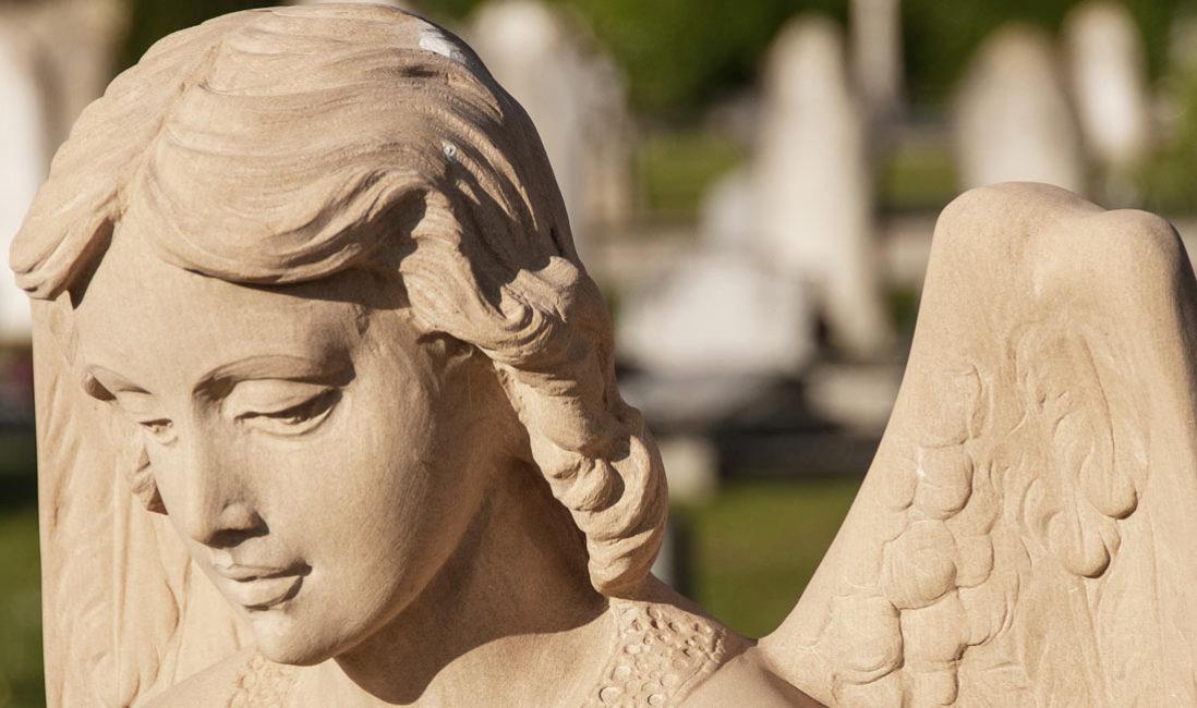 Grabmal Einzelgrabstein Sandstein Somerton Friedhof Detail