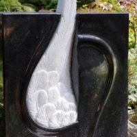 Grabstein Engelsflügel Granit