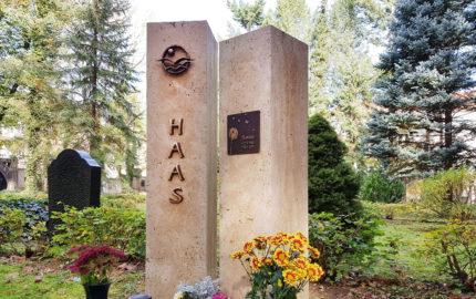 Gera Südfriedhof Familiengrabstein Haas