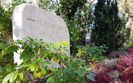 Berlin Waldfriedhof Zehlendorf Grabstein Hildegard Knef