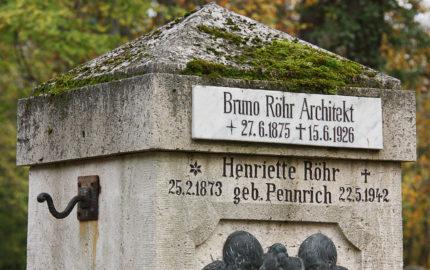 Weimar Hauptfriedhof Grabstein Bruno Röhr