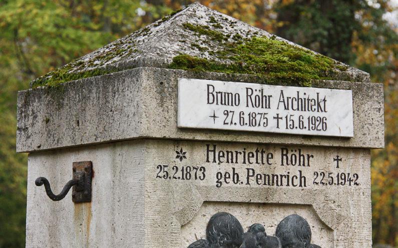Weimar Hauptfriedhof Grabstein Bruno Röhr - 2