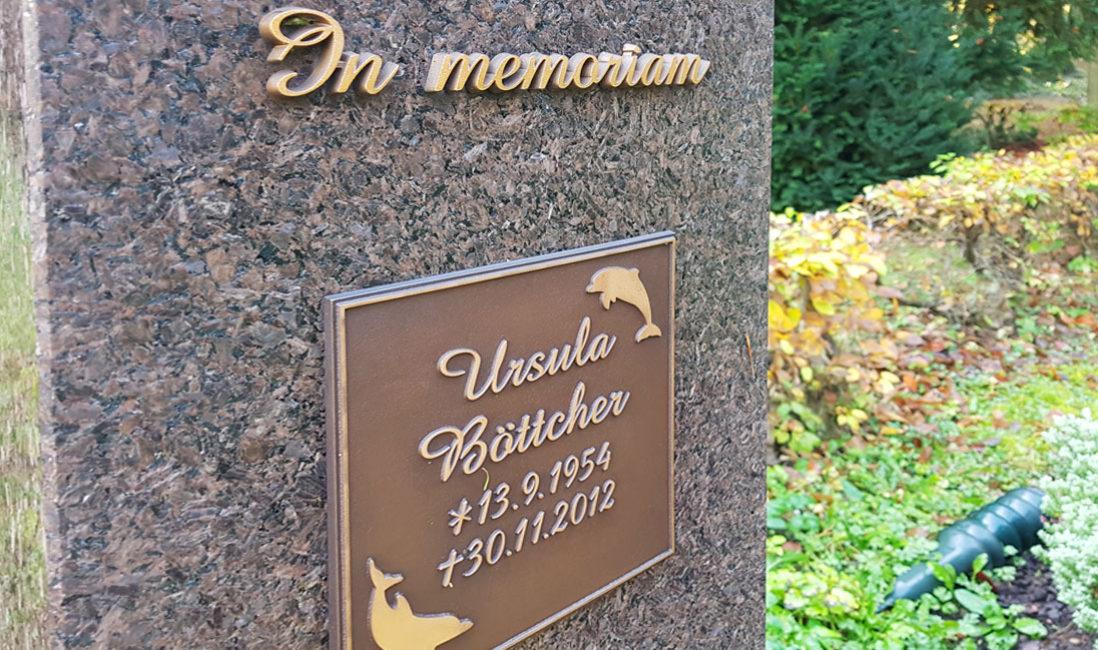 Bronze Inschrift Grabsteine Bronze Tafel Beschriftung Beispiel