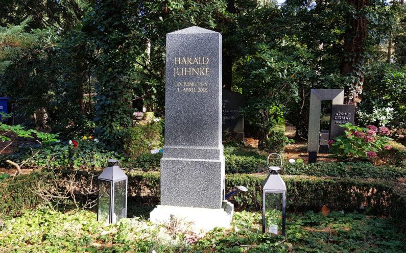 Berlin Waldfriedhof Dahlem Grabstele Harald Juhnke - 1