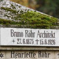 Historischer Grabstein Architekt Bruno Röhr Weimar Hautpfriedhof