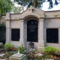 Historische Grabstätte Weimar Karl Dietrich Grabwand Familiengrabstätte Antik