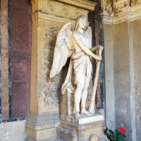 Antik Historischer Grabengel Engel Grabstein Grabmal Mamror Dresden Neuer Annenfriedhof Friedich Siemens