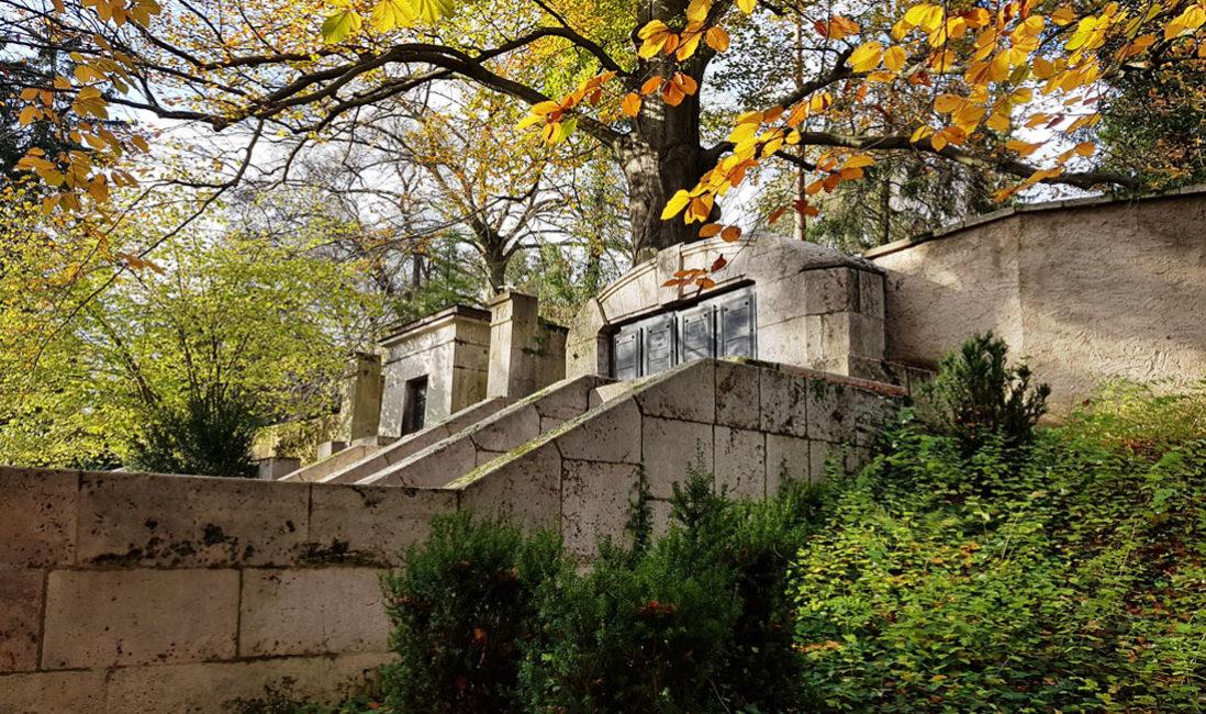 Historische Grabstätte Grabanlage Grabstein Mausoleum Karl Theodor Koetschau  Henry van de Velde Weimar Hauptfriedhof
