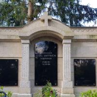 Historische Antike Grabstätte Gemeinschaftsgrab Weimar Karl Dietrich Grabwand Familiengrabstätte Antik