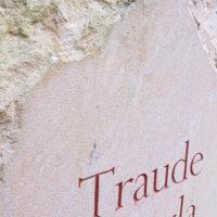 Grabinschrift Sandstein Weimar Hauptfriedhof
