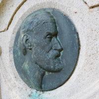 Grabstätte Muschelkalk Grabstein Grabanlage historisch antik Ernst Abbe Jena Nordfriedhof