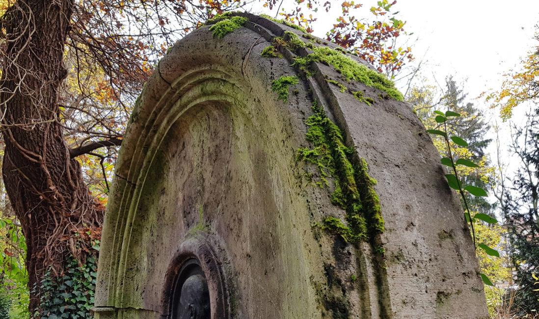 berühmt Einzelgrab Grabstein Hans Hoffmann Kalkstein Hauptfriedhof Weimar Rundbogen