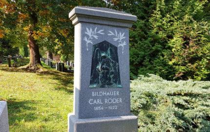 Greiz Hauptfriedhof Grabstein Carl Röder