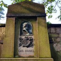 Grabstätte Künstler Carl Hummel Weimar Hauptfriedhof Antike Historische Grabanlage mit Grabstein Sandstein