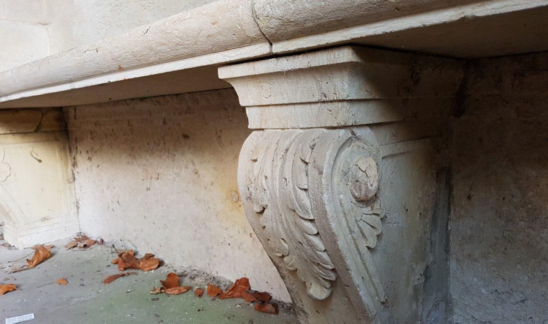 historische Grabstätte Familiengrab Ernst Wildenbruch Sandstein Weimar Hauptfriedhof Detail
