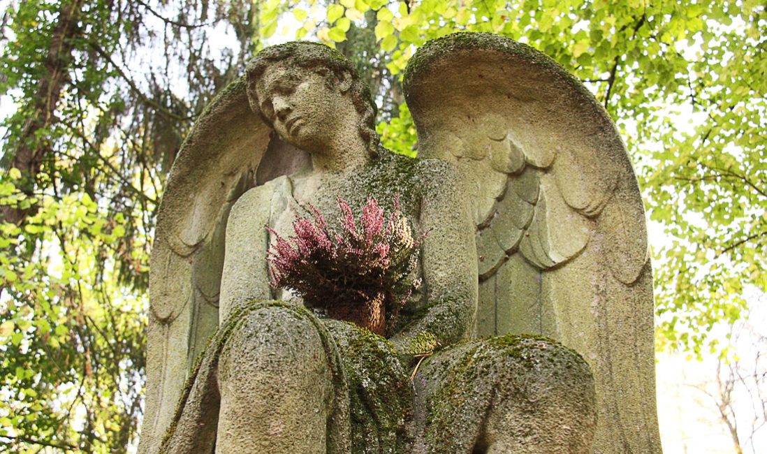 berühmt historisch Grabmal Engel Familiengrab Rudolf Zapfe Architekt Sandstein Hauptfriedhof Weimar