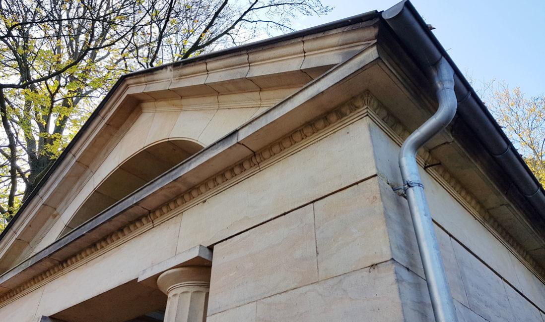 historische Grabstätte Familiengrab Ernst Wildenbruch Sandstein Weimar Hauptfriedhof Bauform