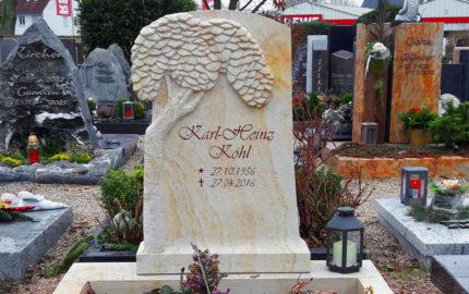 Rödermark Friedhof Ober-Roden Urnengrabstein Köhl