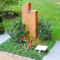 Urnengrab Bepflanzung Mustergrab Gestaltung Landesgartenschau Sommer Herbst Pflegeleicht immergrün einfach