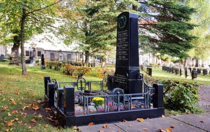 Gera Südfriedhof Familiengrabanlage Rüdiger