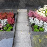 Grabgestaltung Weg platten Familiengrab Gemeinschaftsgrabstätte Bepflanzung Sommer Herbst Bauerfeind Zeulenroda